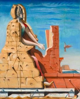 Max Ernst, Heilige Cäcilie – Das unsichtbare Klavier (Saint Cécil – Le piano invisible), 1923, Öl auf Leinwand, 101 x 82 cm, Staatsgalerie Stuttgart, © VG Bild-Kunst, Bonn 2016