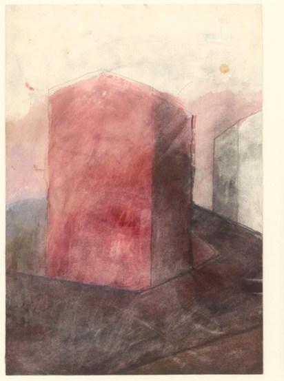 Hubert Kiecol, Ohne Titel, 1981, Aquarell auf Papier, 307 x 213 mm Hamburger Kunsthalle/bpk © VG Bild-Kunst, Bonn 2016 Foto: Christoph Irrgang