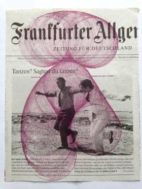 Gabriela Volanti, Tanzen?, 2016, Siebdruck auf Zeitungspapier, Auflage 3, 26 x 20 cm