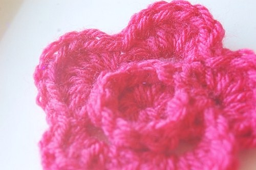 Crochet Ridge Flower Pattern