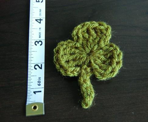large crochet shamrock pattern