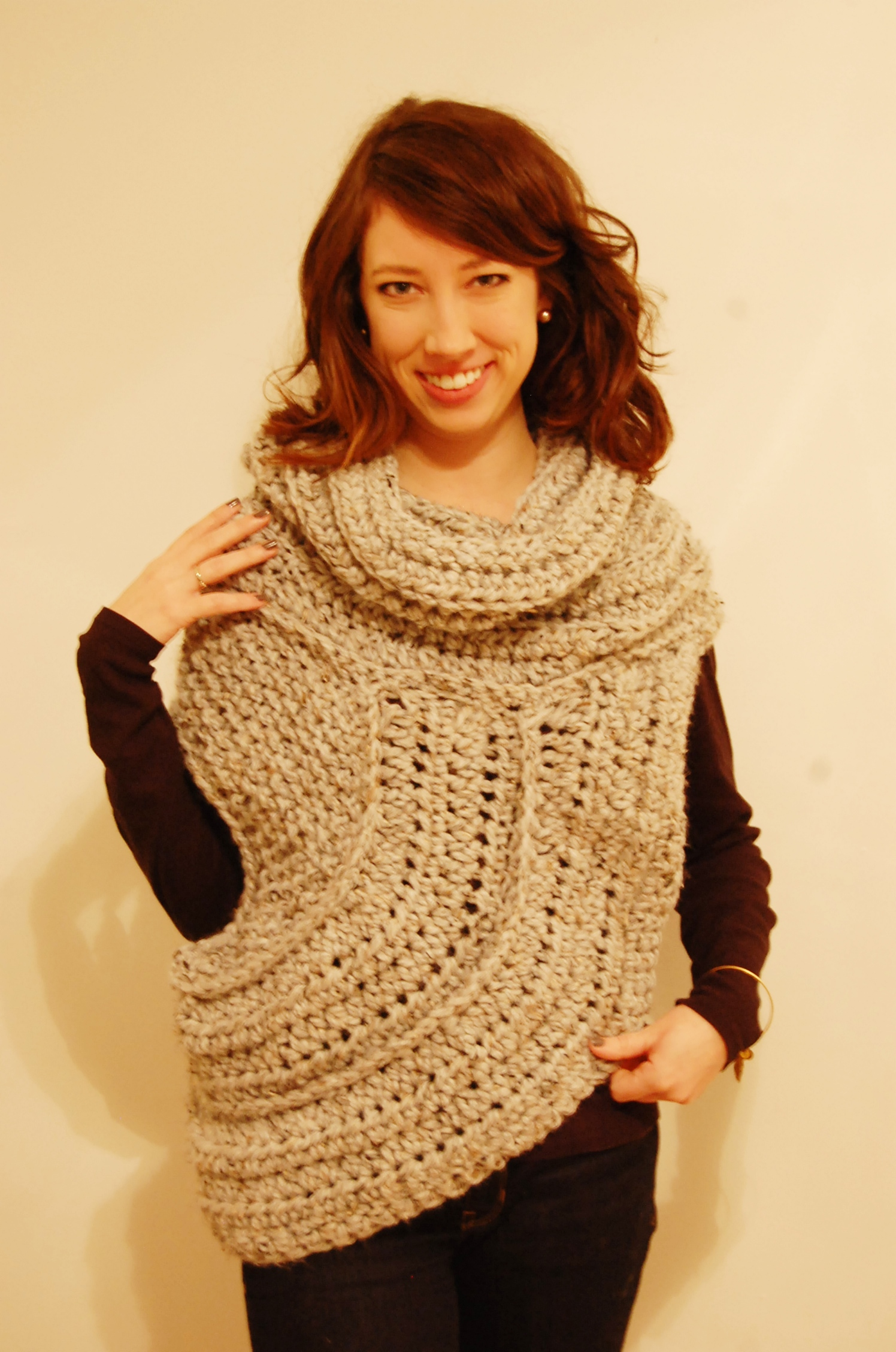 Katniss Knitted Cowl Pattern : Katniss Cowl/Vest - Knit & Crochet Pattern