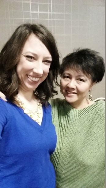 Lily Chin and Me. I know, RIGHT?! Lily the crochet master Chin.