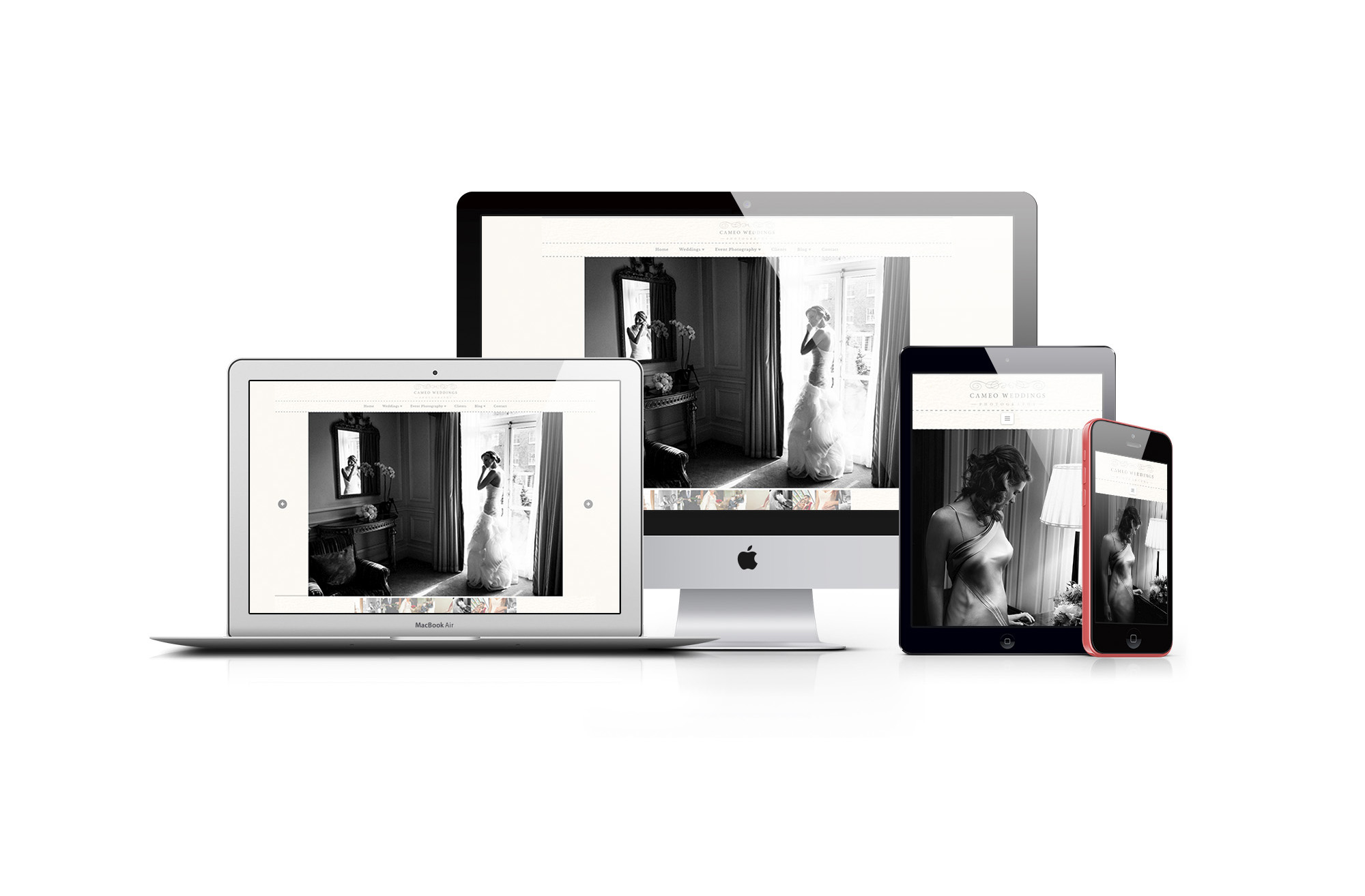 Cameo Photography Web Design and Development Project