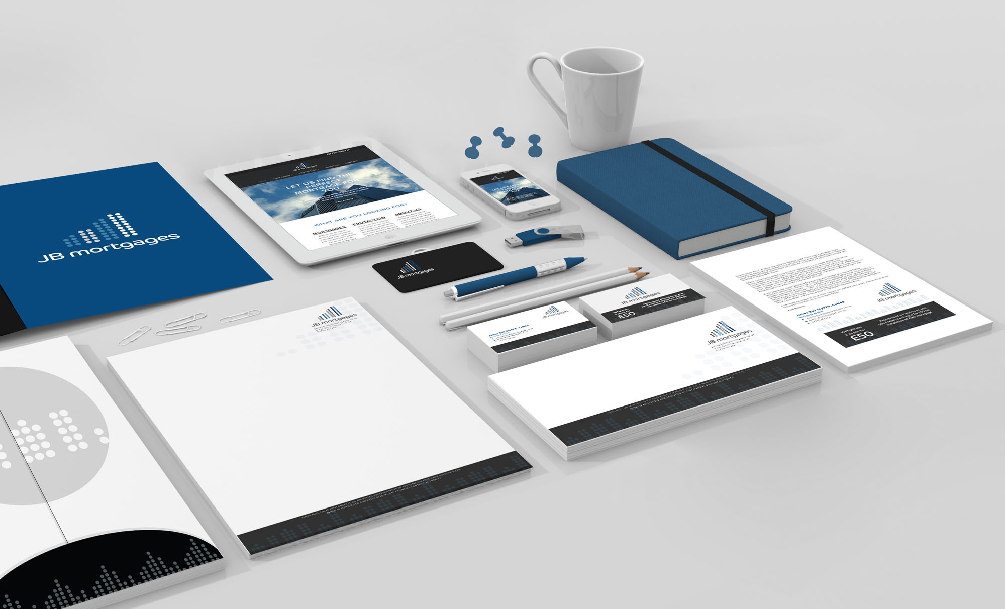 JB Mortgages Branding and Identity Design Project