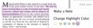 Changing the color of a highlighted passage in Papers for Mac