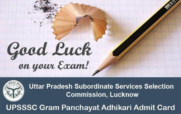 upsssc-gram-panchayat-adhikari-admit-card