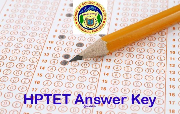 HPTET Answer Key 2016 For TGT Medical Arts 28th Feb Exam