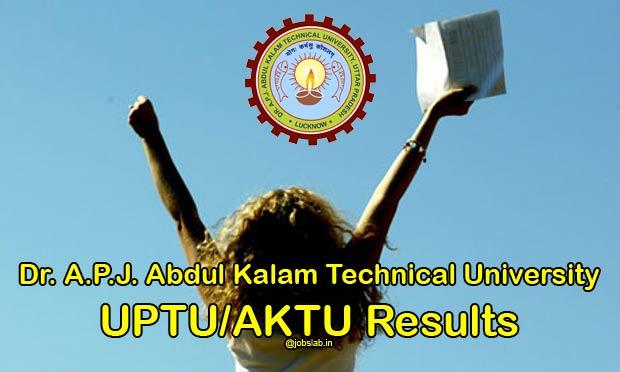 UPTU Results 2016 APJAKTU Odd Sem B.Tech, MBA, MCA Exam