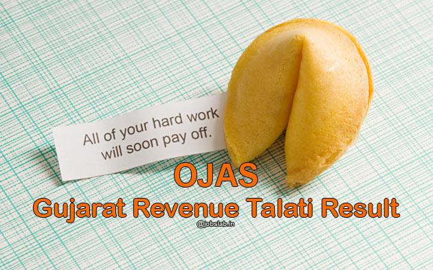 OJAS Revenue Talati Result 2016 & Talati Merit list Available