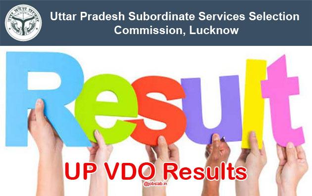 UP VDO Result 2016 Check UPSSSC Gram Panchayat Adhikari Merit list & Cut off