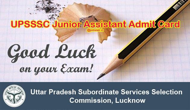 upsssc-junior-assistant-admit-card