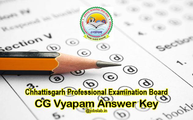 CG Vyapam Hostel Warden Answer Key 2016 for 819 Chatrawas Adhikshak Posts