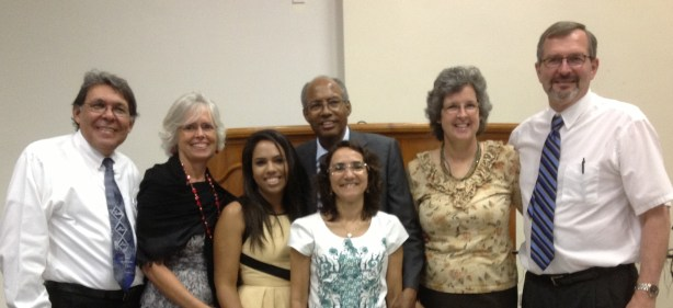 Dr. Elias and Fokjelena Medeiros, Elisama Marcelino, Pastor Jaime and Francisca Marcelino, with Us