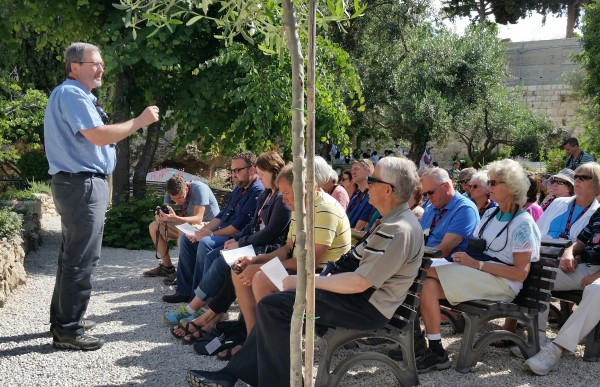 Preaching on Christ's Resurrection at the Garden of the Tomb