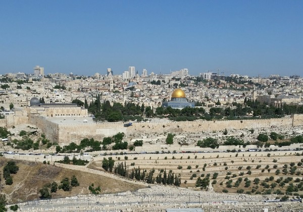 View of Modern Jerusalem from the Mount of Olives