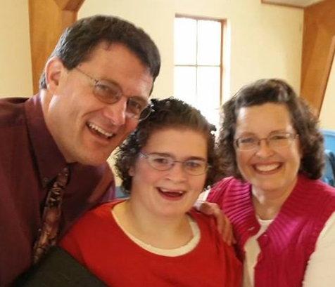 Pastor Mike and Robin Thompson, with their daughter Ginnie