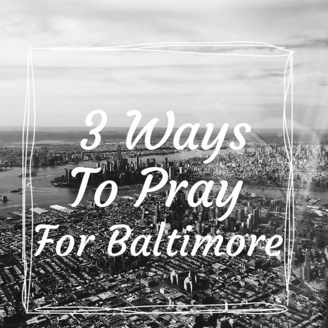Pray for Baltimore