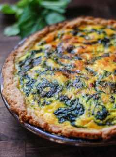 Vegetarian Spinach Potato Quiche
