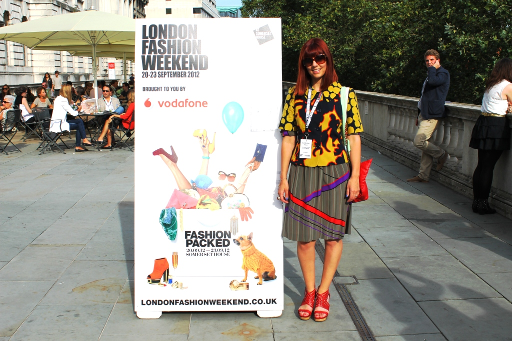 Johanna Payton London Fashion Weekend sign