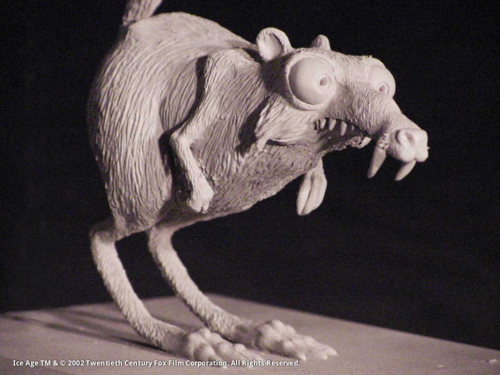 Scrat Original Concept Maquette, Sculpey