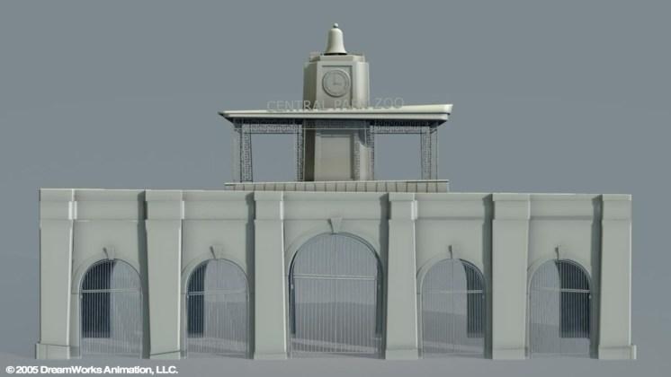 Central Park Zoo Entrance: Building Exterior Model