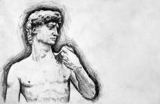 Michaelangelo's David Drawing