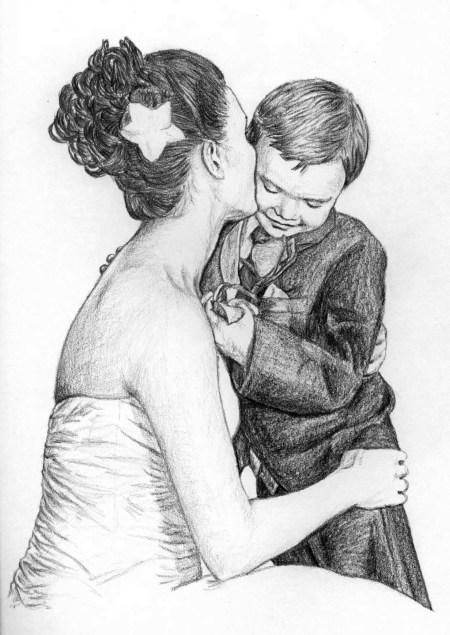 Jake and Mackenzie Drawing