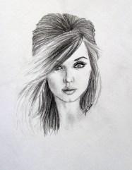 Pencil Portrait Drawing by John Gordon Art (2013, graphite)