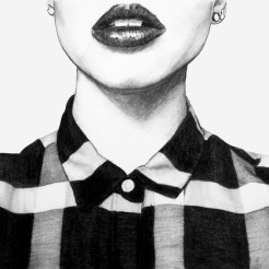 Aubrey Lips Drawing v2 by Artist John Gordon