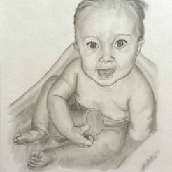 Baby-Pencil-Portrait-Drawing-by-John-Gordon