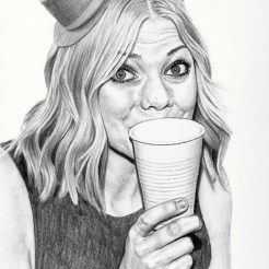 Chloe Drawing by Artist John Gordon