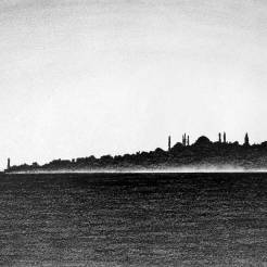 Istanbul-Turkey-Skyline-Drawing-by-John-Gordon