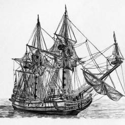 Kalmar-Nyckel-Tall-Ship-Charcoal-Drawing-2-by-John-Gordon