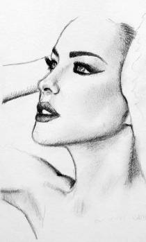 Model-Portrait-Drawing-by-John-Gordon