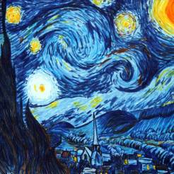 Starry-Night-Van-Gogh-Marker-Drawing-by-John-Gordon