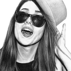 Trisha Sunglasses Drawing by Artist John Gordon