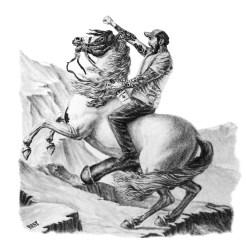 Mat Best Article 15 Meat Pony Creative Portrait Drawing by John Gordon