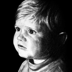 RedditGetsDrawn Child Pencil Portrait Drawing by John Gordon The_Drawist