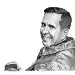 Veteran Memorial Portrait Drawing by John Gordon