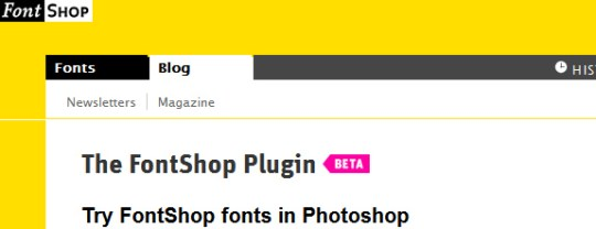 FontShop's PhotoShop Plugin