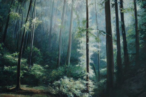 San Fransisco Forest Oil Painting