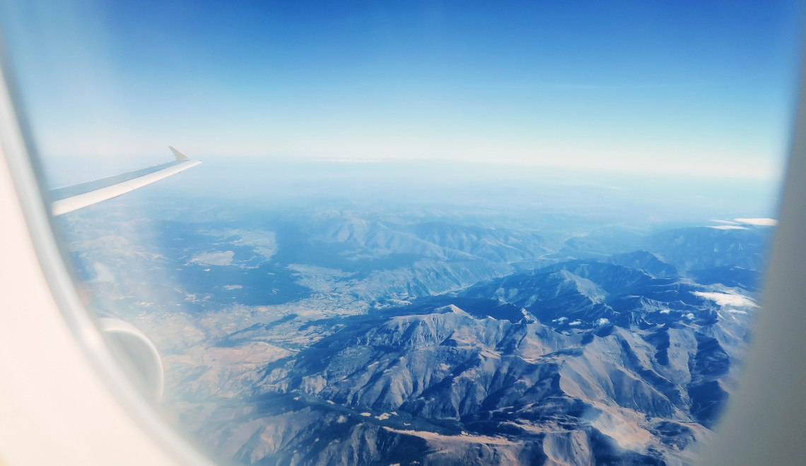 view-from-plane-window