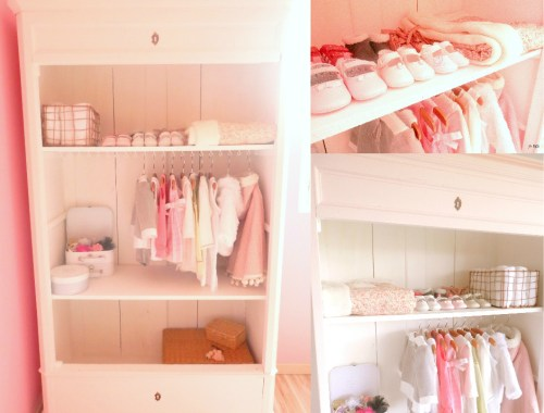 FB post armoire dressing rose poudré