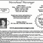 Working At The Moosehead Messenger