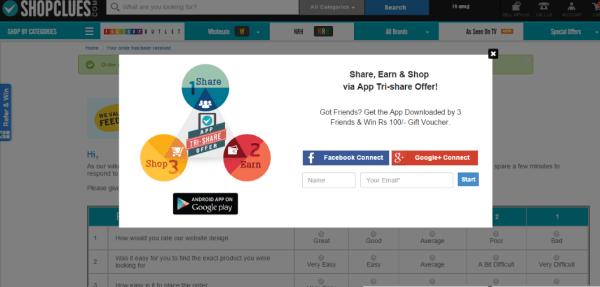Shopclues Refer and Earn