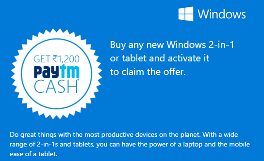 paytm windows offer