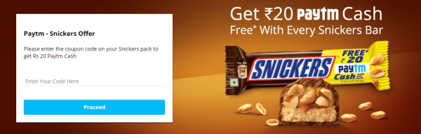 paytm snikers offer