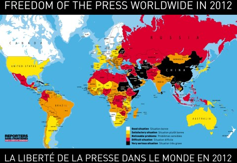 Freedom of the press worldwide 2012