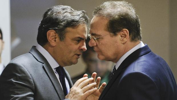 """Renan diz que Aécio Neves """"está com medo"""" da Lava Jato e pediu ajuda"""